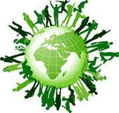 Comunità globale. — Vettoriale Stock