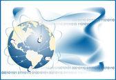 Globe with digital — Stock Vector