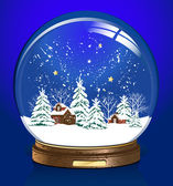 Snow blue globe — Vector de stock