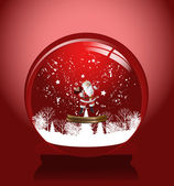 Red snow globe — Stock Vector