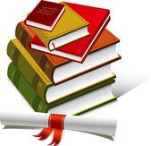 Pila de libros. — Vector de stock