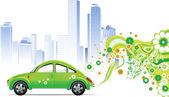 Environmental car. — Stock Vector