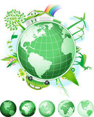 Global Conservation Concept. — Stock Vector