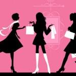 Shopping women. — Stock Vector