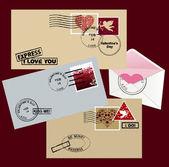 Envelope for Valentine's day. — Stock Vector