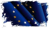 European grunge flag. — Stock Vector