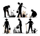 Jardineiro. — Vetor de Stock