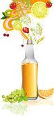 сок и фрукты — Cтоковый вектор