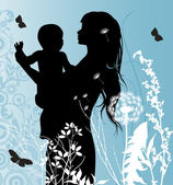 Family, Mather and Baby. — Stockvektor