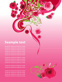 Background with roses. — Stock Vector