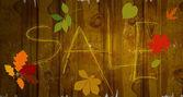 Drewniane tła. znakiem sprzedaż — Wektor stockowy