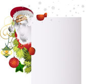 Card with santa clause claus — Stock Vector