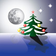Christmas moon - Stock Vector