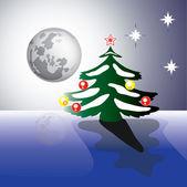 Christmas moon — Stock Vector