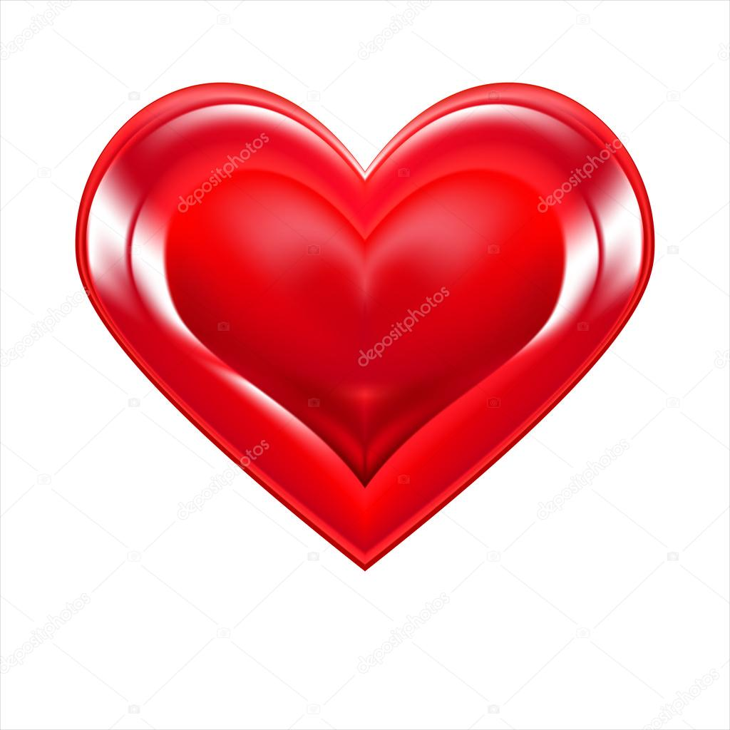Heart shape symbol, Valentine's Day, woman in red, EPS10 — Stockvectorbeeld #18455285