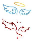天使和魔鬼 — 图库矢量图片