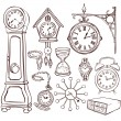 Set of different clocks — Vector de stock  #40553229