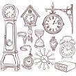 Set of different clocks — Stok Vektör #40553229