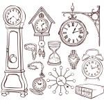 Set of different clocks — Vector de stock