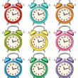 Set of ringing alarm clock — Stock Vector #40553259