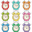Set of ringing alarm clock — Stockvector  #40553259