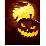 Creepy Halloween Background with Pumpkin — Stock Vector