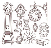 Set of different clocks — Stock Vector