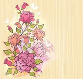 Rose background — Stockvektor