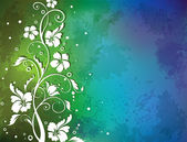 Colorful background with floral pattern — Stockvektor