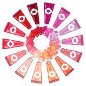 Lipgloss palette — Stock Vector