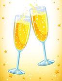 Champagne glasses — Stock Vector