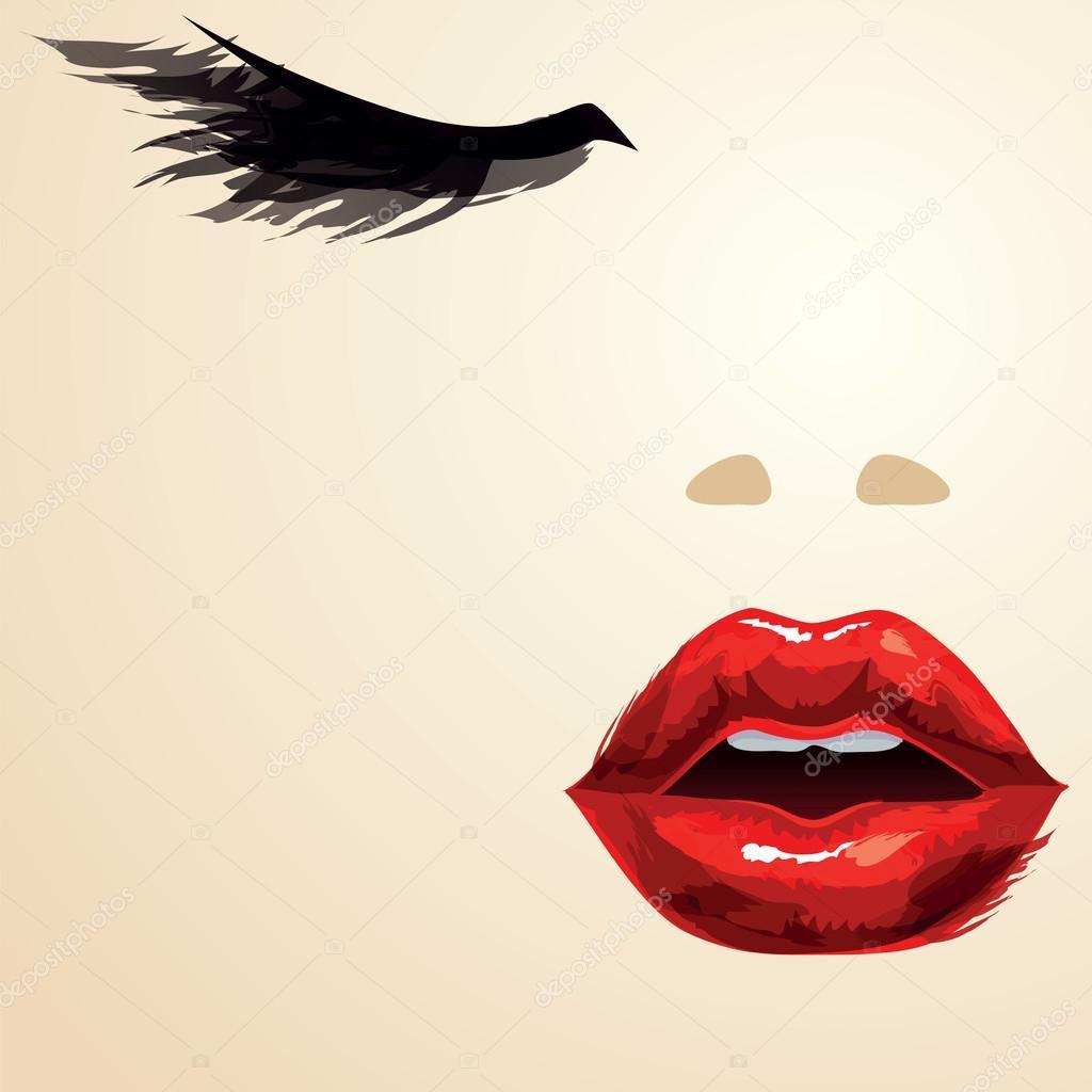 Как вшопе сделать чёрно-белое с красными губами
