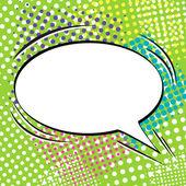 Comic speech bubble — Stock Vector