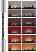 Skyline Edifici — Stock Vector