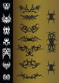 Tatuaggi Tribali — Stock Vector