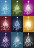 Alberi Di Natale — Stock Vector
