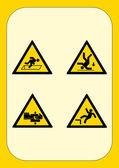 Cartelli Aziendali Pericolo — Stock Vector