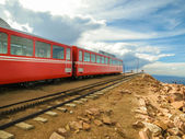 Mountain train in Colorado — Stock Photo