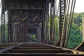 Old rusty bridge — Stock Photo