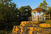 Gazebo in the park — Foto Stock