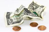 Crumpled dollar — Stock Photo