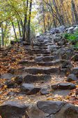 Stone steps in Baraboo, WI — Stock Photo