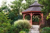 Garden gazebo — Stock Photo