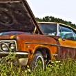 Stock Photo: Rusty muscle car