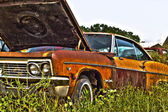 Rusty muscle car — Fotografia Stock