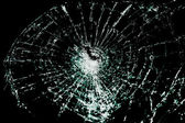 Broken Glass On A Black Background — Stock Photo