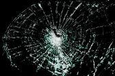 Broken Glass On A Black Background — Stock Photo
