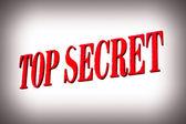 красный секретно знак — Стоковое фото