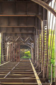Velha ponte enferrujada — Foto Stock