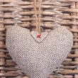 Stock Photo: Tweed Heart